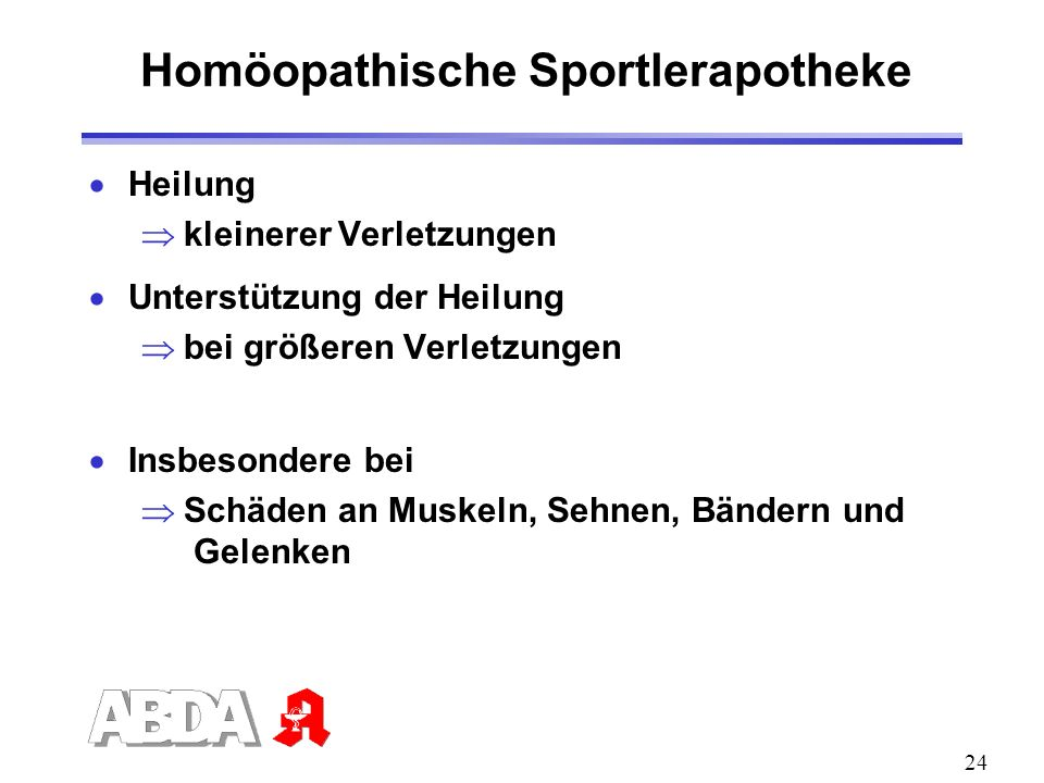 Homöopathische Sportlerapotheke