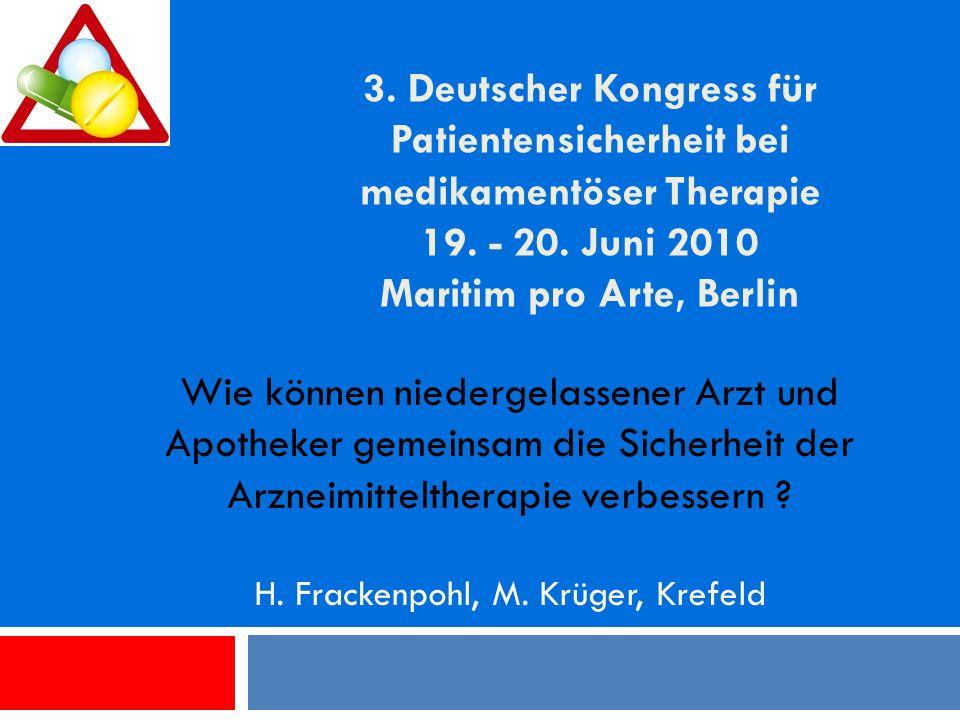 H. Frackenpohl, M. Krüger, Krefeld