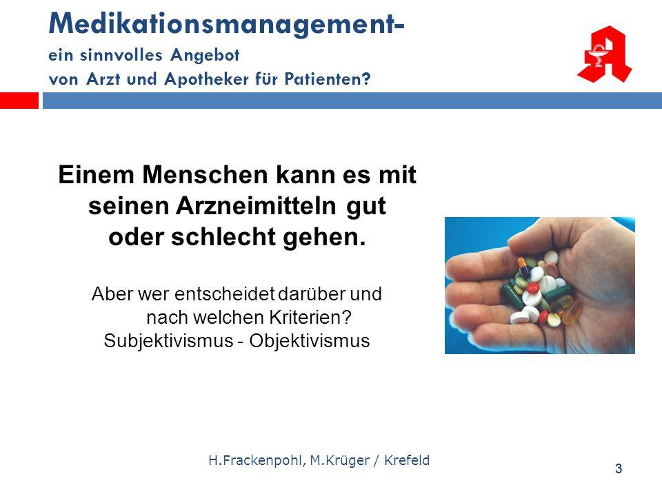 Medikationsmanagement- ein sinnvolles Angebot von Arzt und Apotheker für Patienten