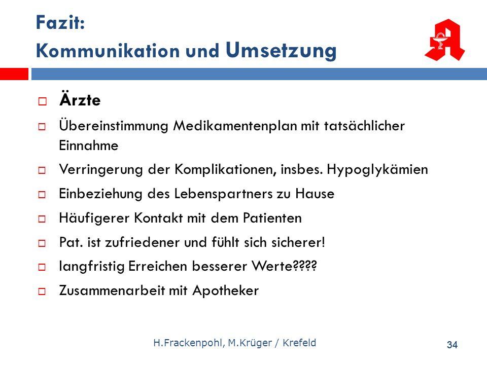 Fazit: Kommunikation und Umsetzung