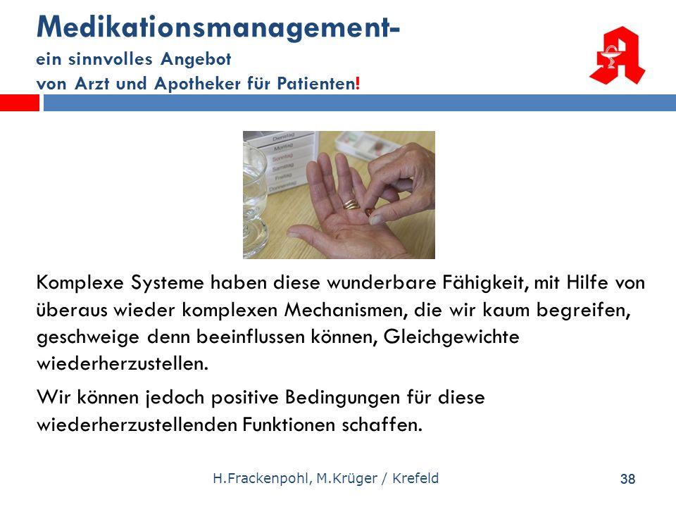 Medikationsmanagement- ein sinnvolles Angebot von Arzt und Apotheker für Patienten!
