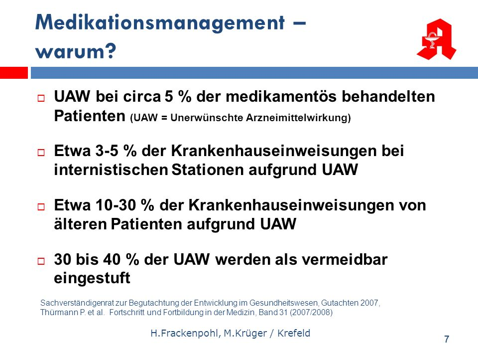 Medikationsmanagement – warum