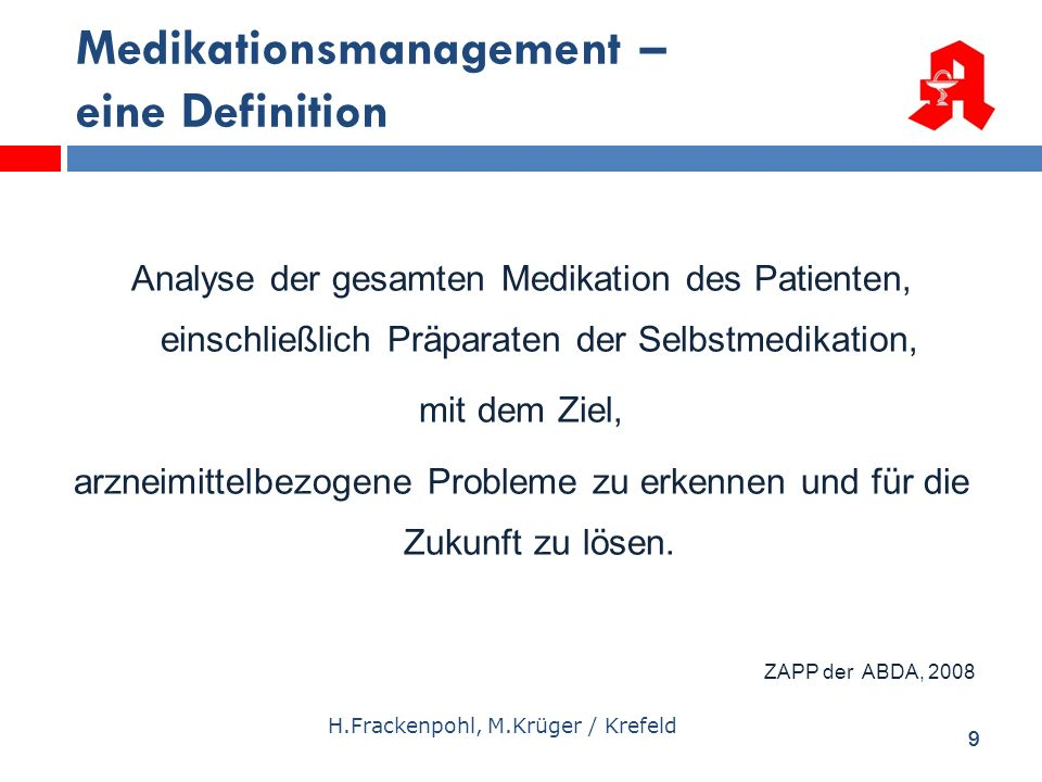 Medikationsmanagement – eine Definition