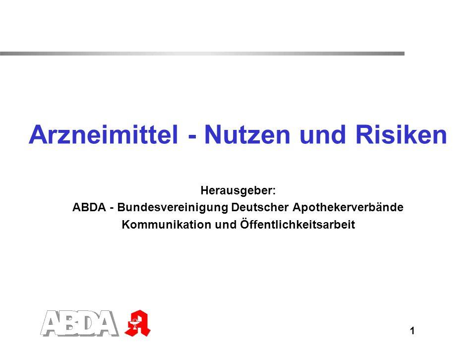 Arzneimittel - Nutzen und Risiken
