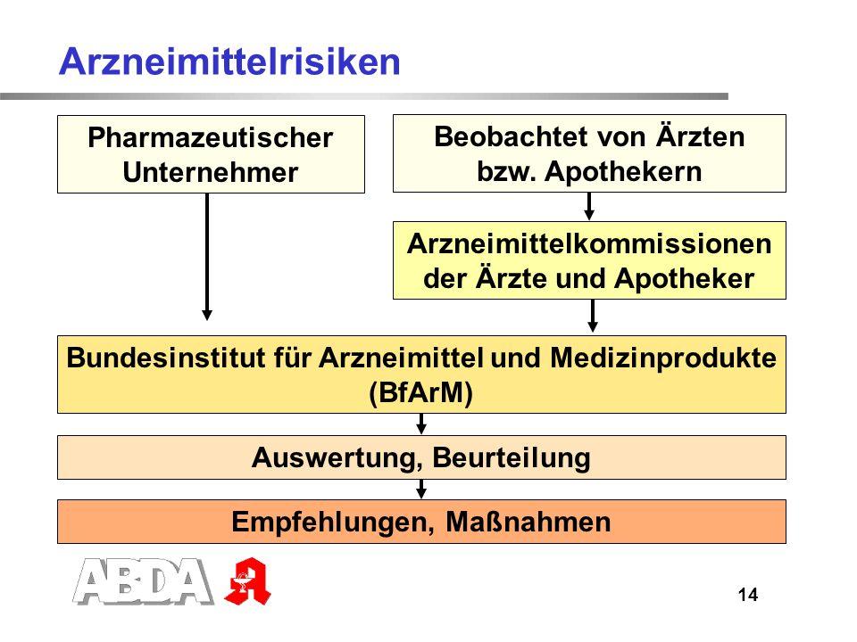 Arzneimittelrisiken Pharmazeutischer Unternehmer