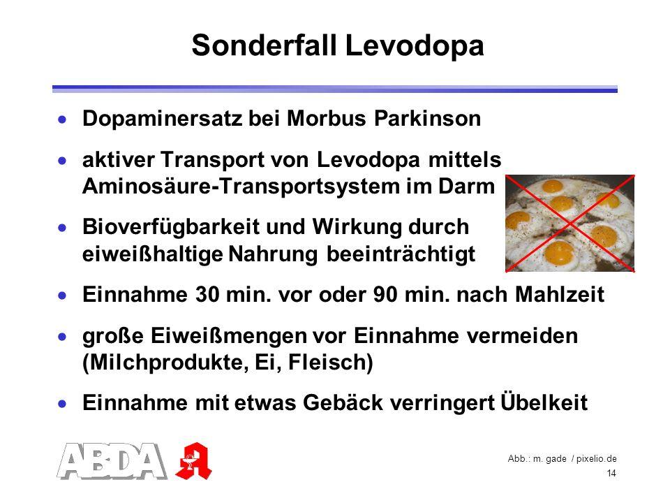 Sonderfall Levodopa Dopaminersatz bei Morbus Parkinson