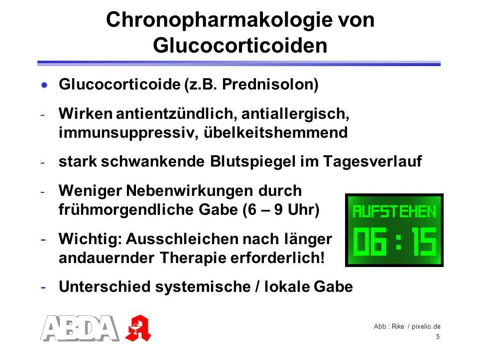 Chronopharmakologie von Glucocorticoiden