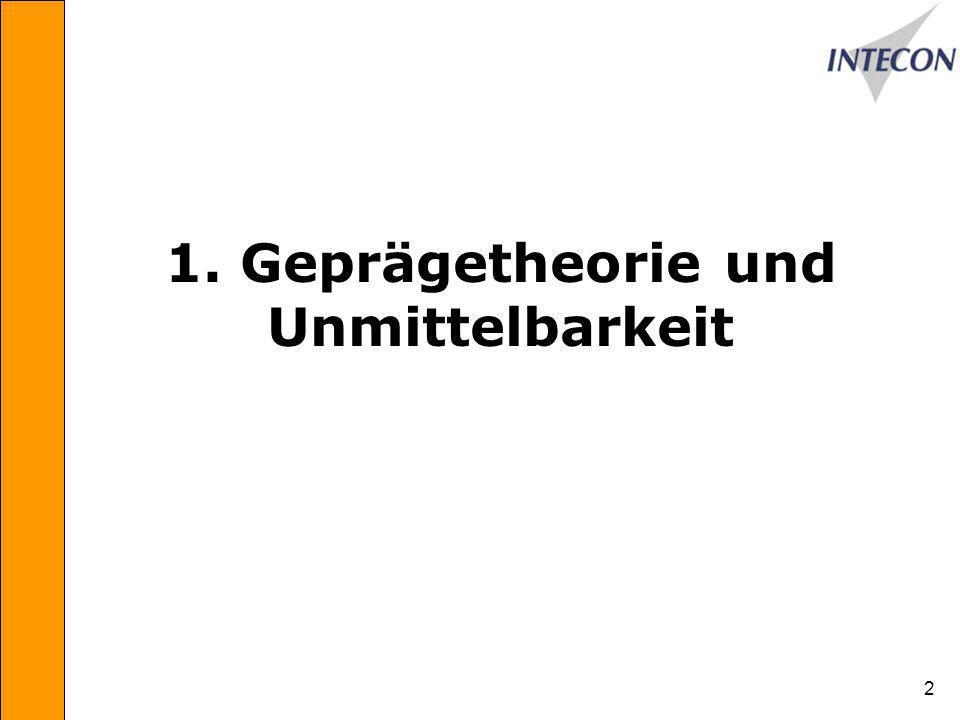 1. Geprägetheorie und Unmittelbarkeit