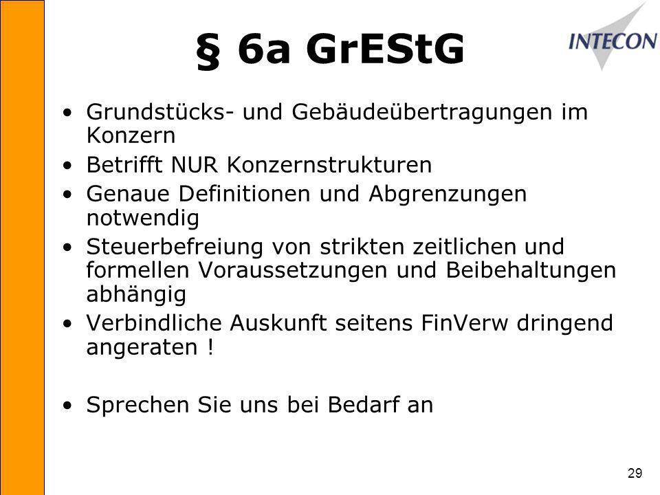 § 6a GrEStG Grundstücks- und Gebäudeübertragungen im Konzern