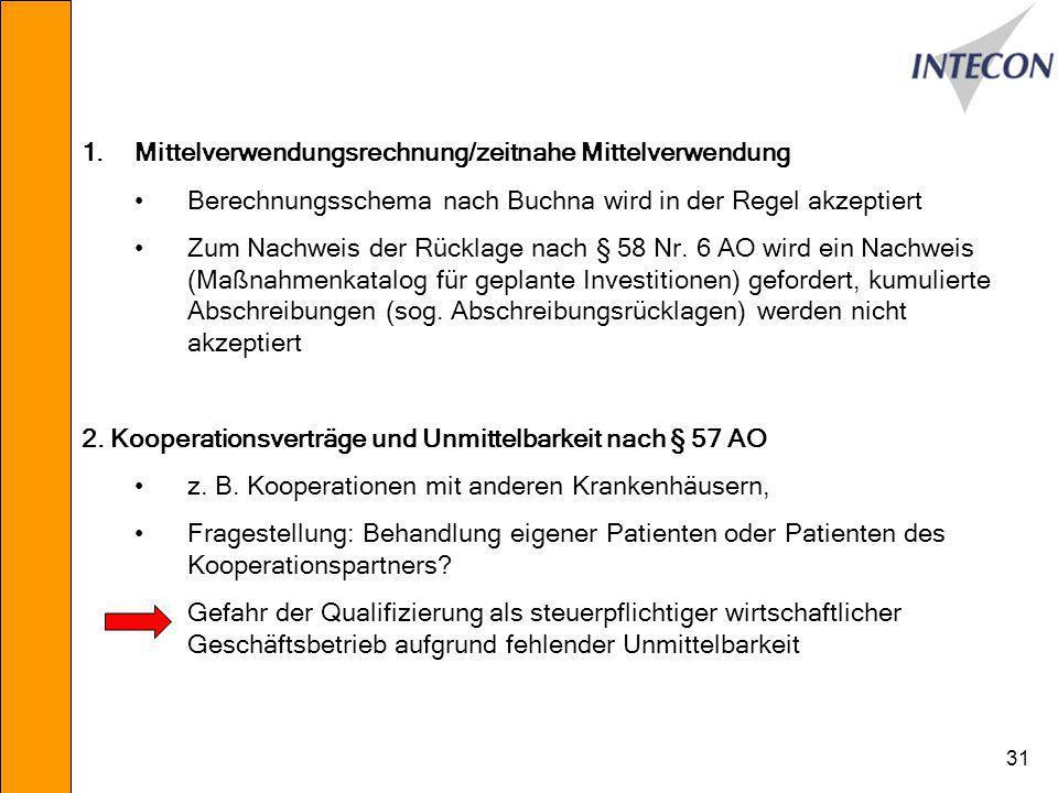 Mittelverwendungsrechnung/zeitnahe Mittelverwendung