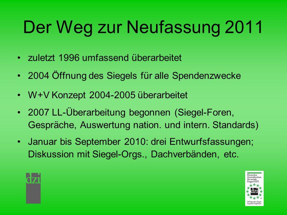 Der Weg zur Neufassung 2011 zuletzt 1996 umfassend überarbeitet