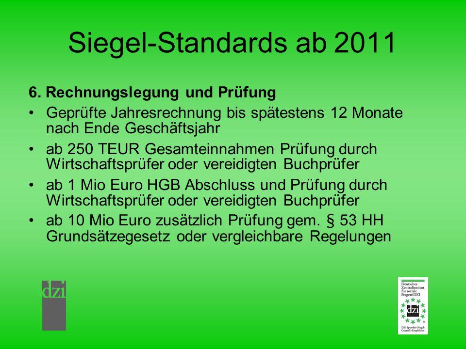 Siegel-Standards ab 2011 6. Rechnungslegung und Prüfung
