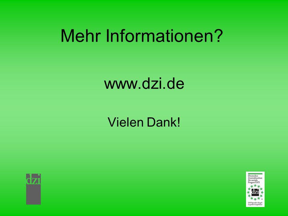 Mehr Informationen www.dzi.de Vielen Dank!