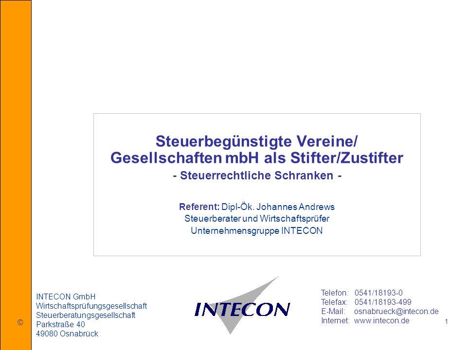 Steuerbegünstigte Vereine/ Gesellschaften mbH als Stifter/Zustifter