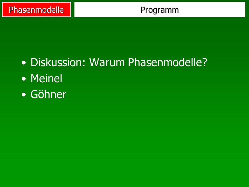 Diskussion: Warum Phasenmodelle Meinel Göhner