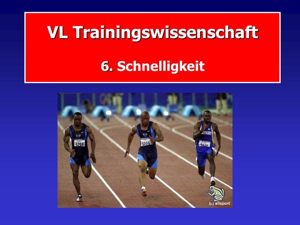 VL Trainingswissenschaft 6. Schnelligkeit