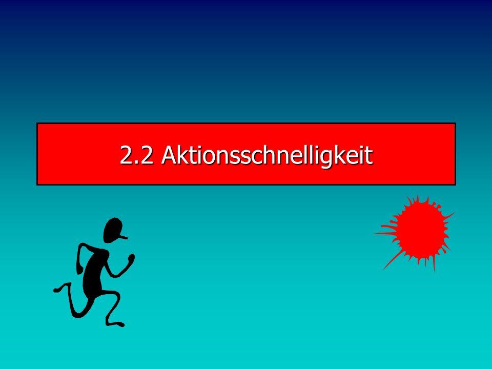 2.2 Aktionsschnelligkeit