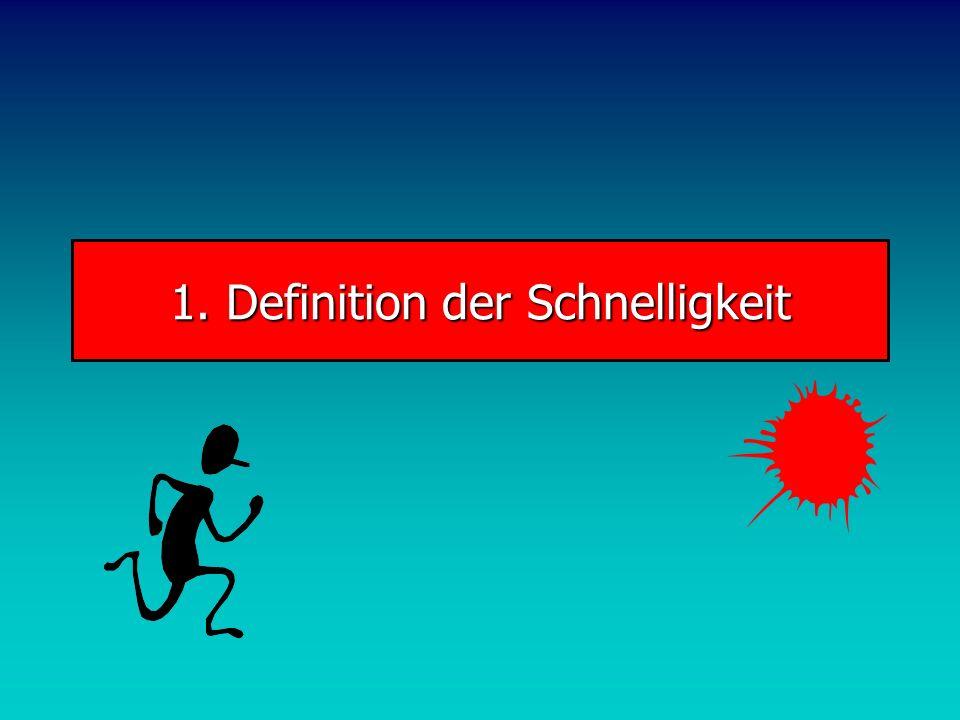 1. Definition der Schnelligkeit
