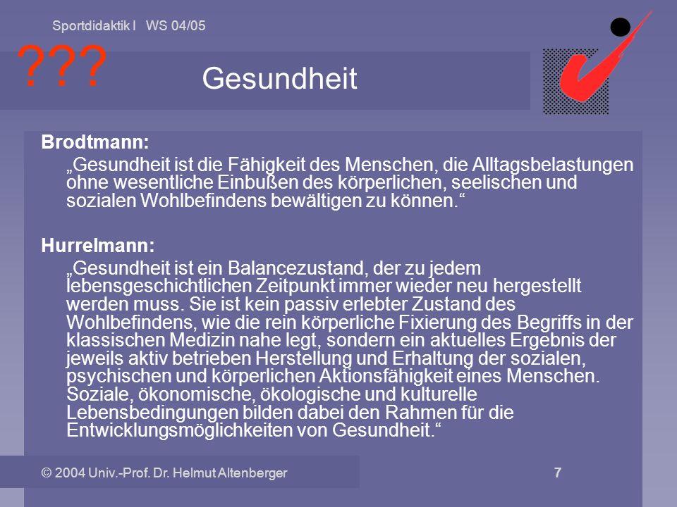 Gesundheit Brodtmann: