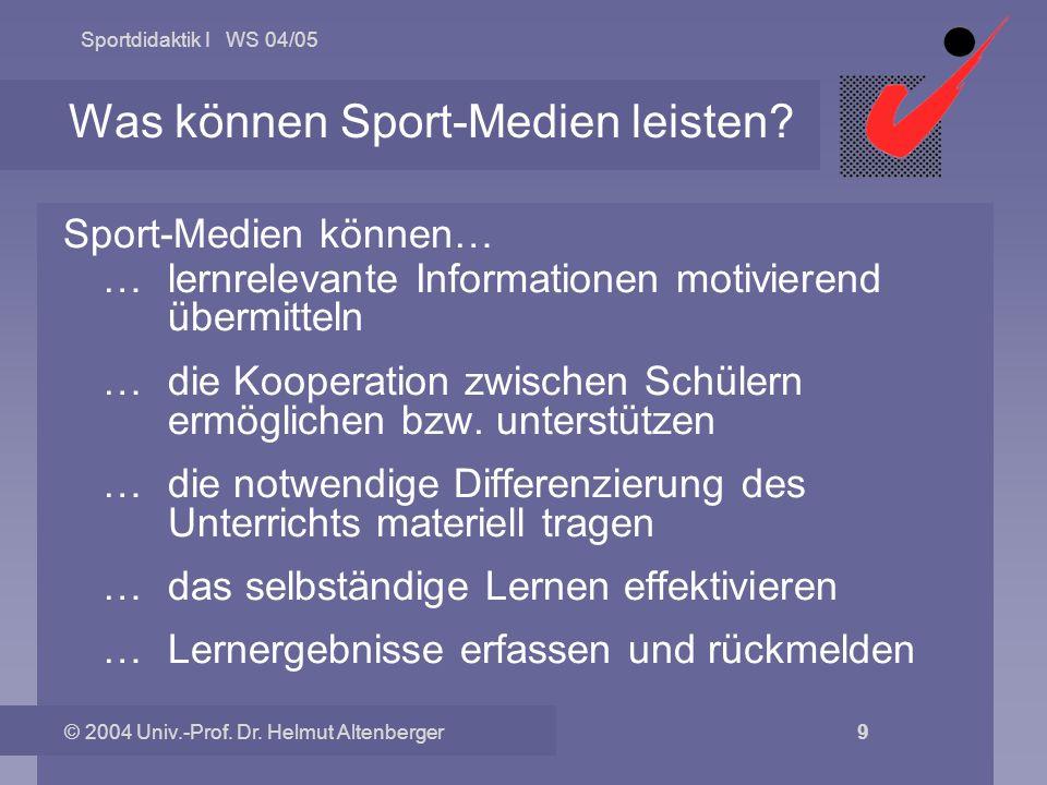 Was können Sport-Medien leisten