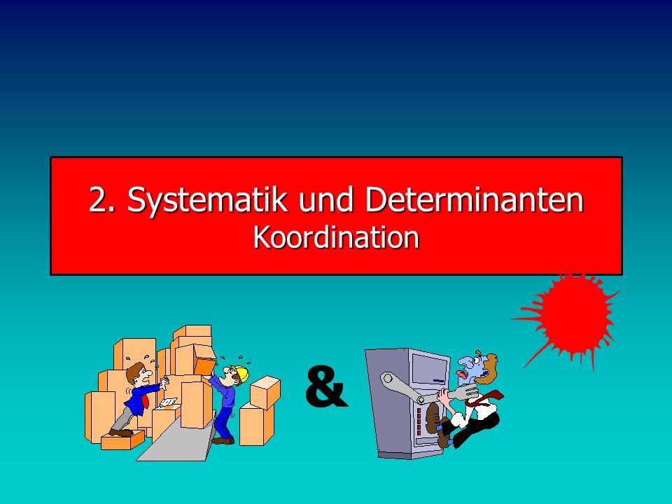 2. Systematik und Determinanten Koordination