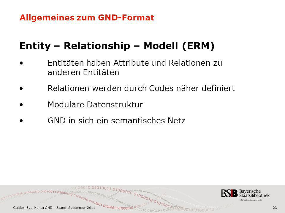 Entity – Relationship – Modell (ERM)