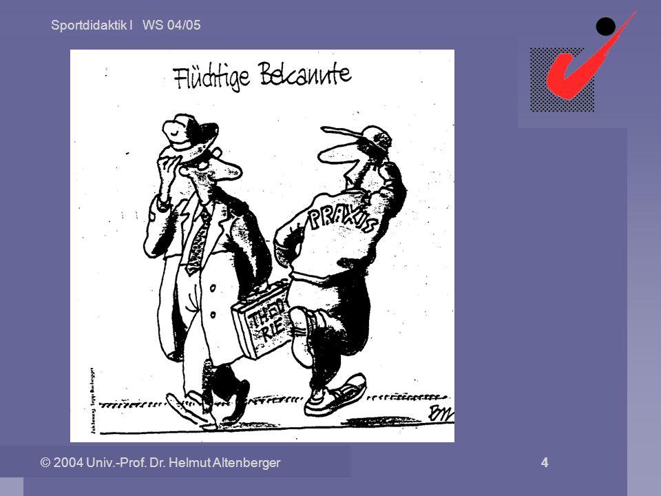 © 2004 Univ.-Prof. Dr. Helmut Altenberger