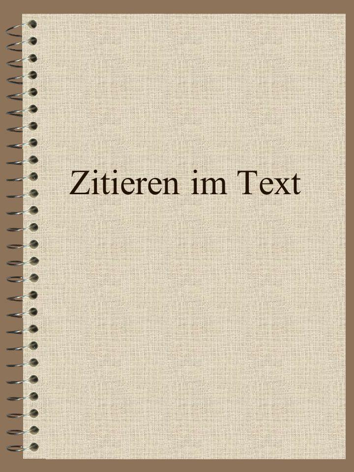 Zitieren im Text