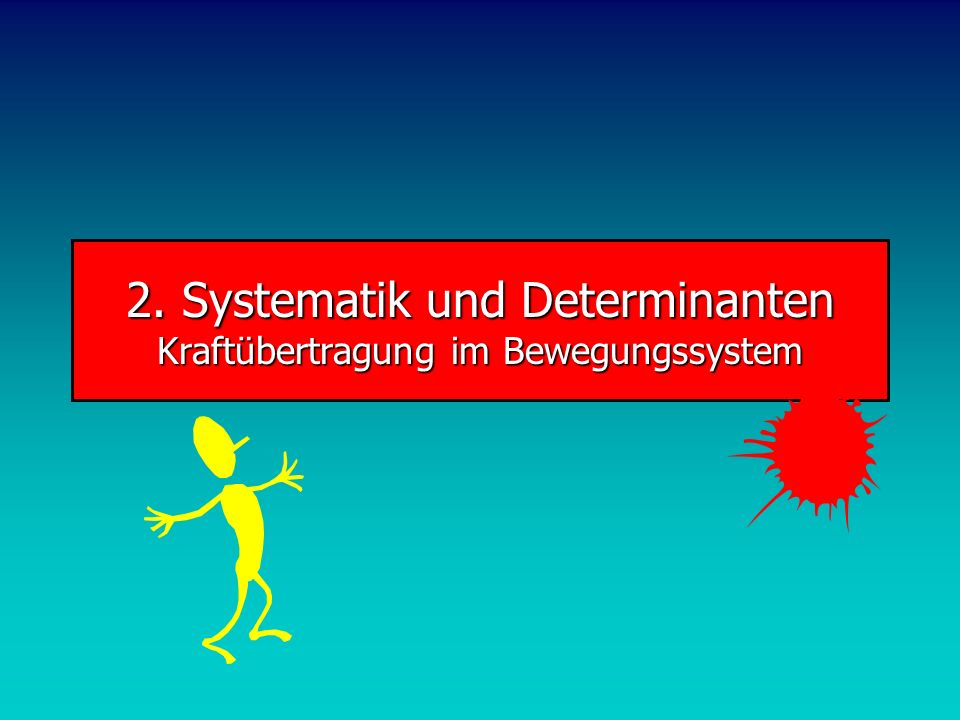 2. Systematik und Determinanten Kraftübertragung im Bewegungssystem