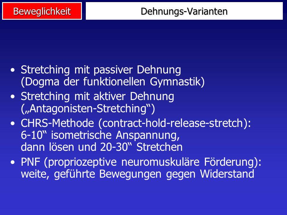 Stretching mit passiver Dehnung (Dogma der funktionellen Gymnastik)