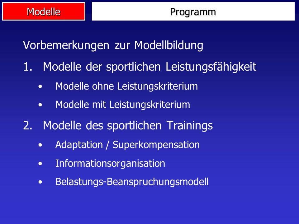 Vorbemerkungen zur Modellbildung