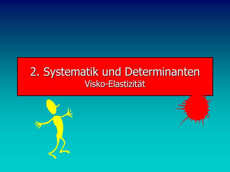 2. Systematik und Determinanten Visko-Elastizität