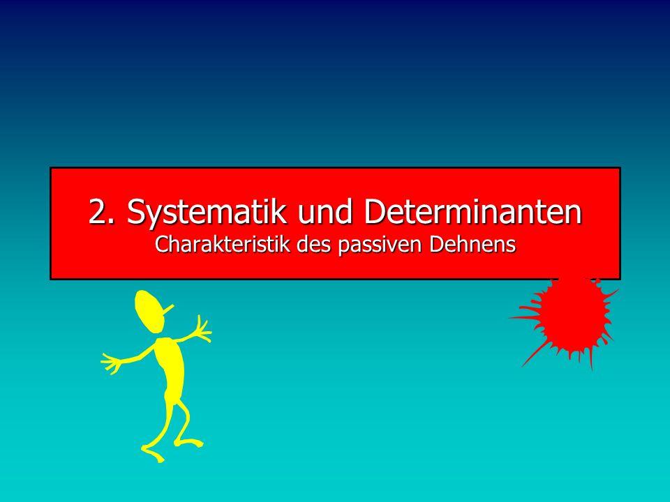 2. Systematik und Determinanten Charakteristik des passiven Dehnens