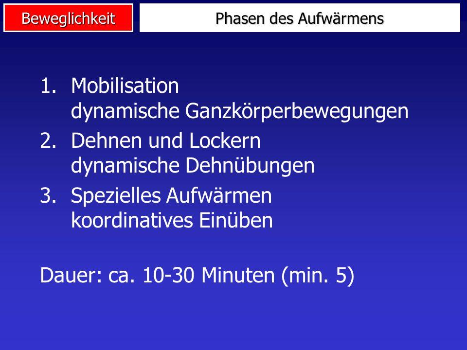 Mobilisation dynamische Ganzkörperbewegungen