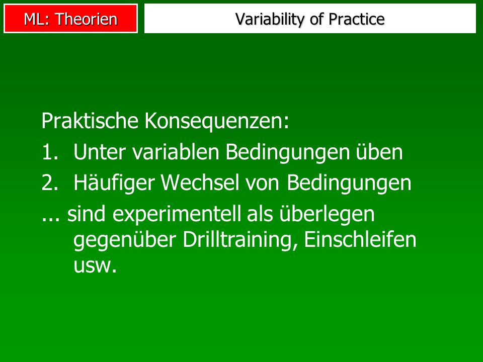 Variability of Practice