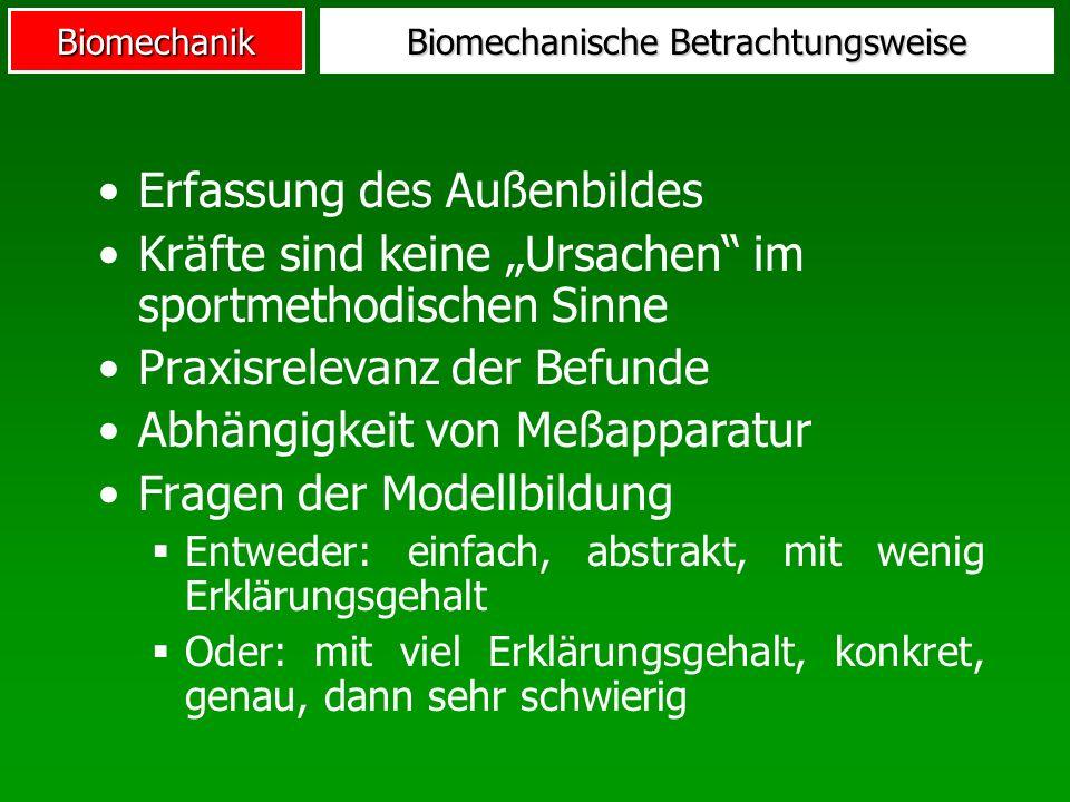 Biomechanische Betrachtungsweise