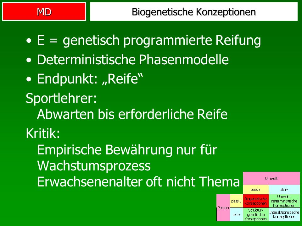 Biogenetische Konzeptionen