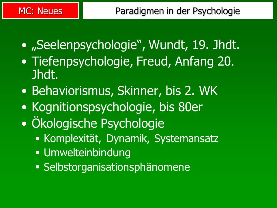 Paradigmen in der Psychologie
