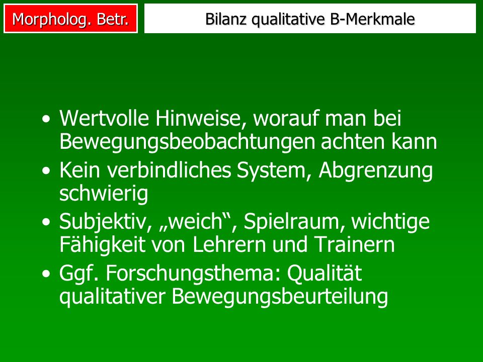 Bilanz qualitative B-Merkmale