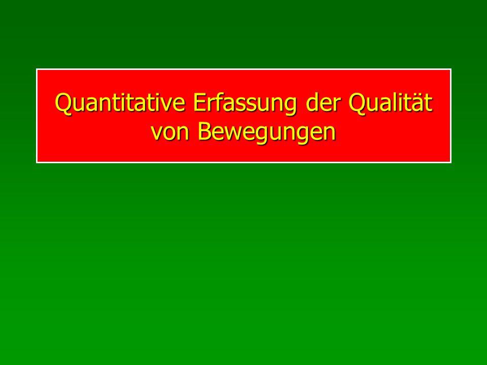 Quantitative Erfassung der Qualität von Bewegungen