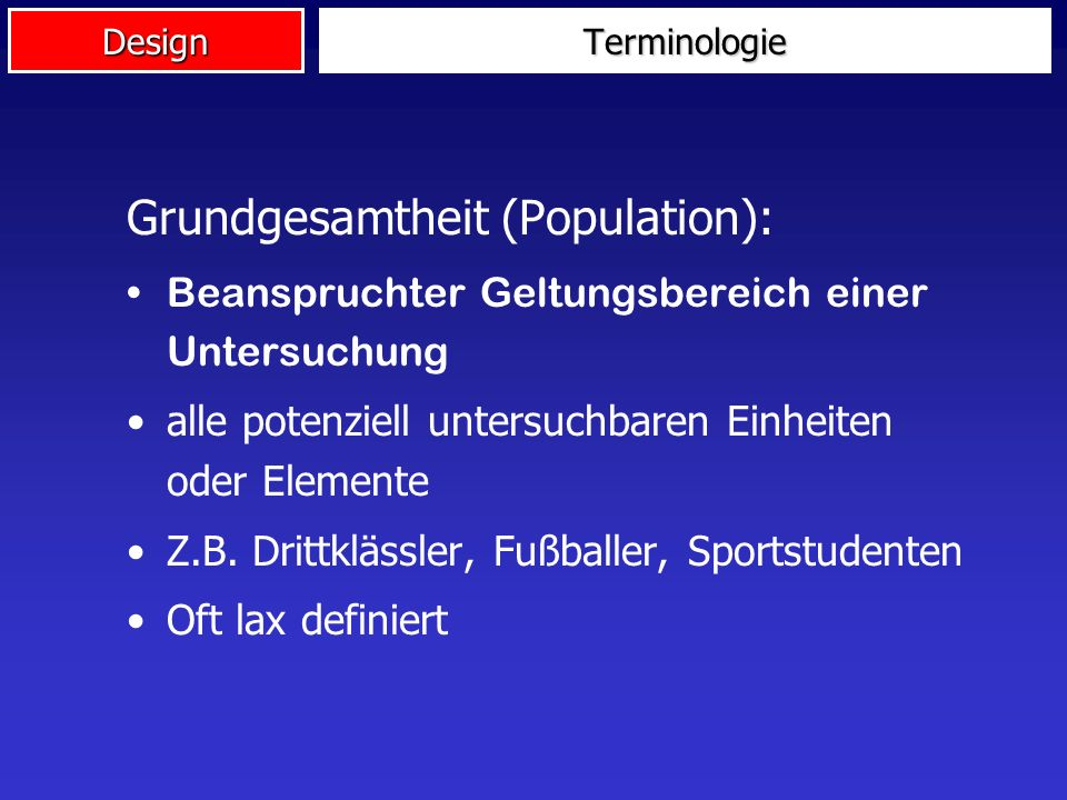 Grundgesamtheit (Population):