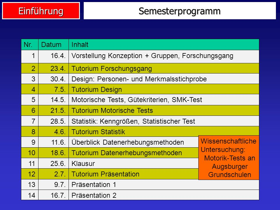 Motorik-Tests an Augsburger Grundschulen