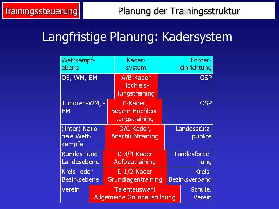 Planung der Trainingsstruktur