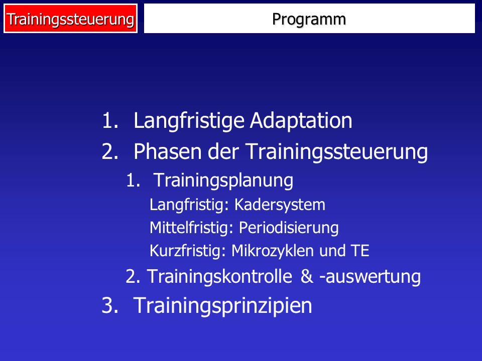 Langfristige Adaptation Phasen der Trainingssteuerung