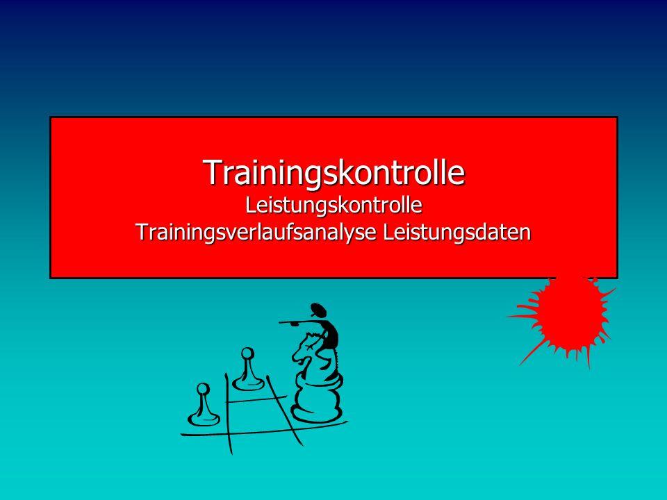 Trainingskontrolle Leistungskontrolle Trainingsverlaufsanalyse Leistungsdaten