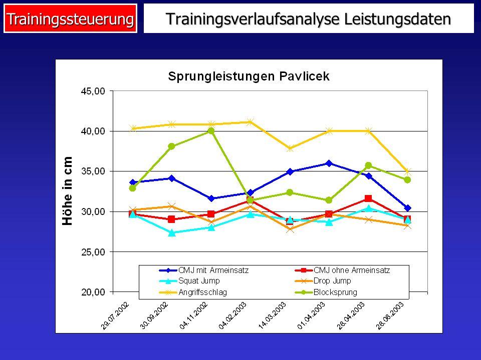Trainingsverlaufsanalyse Leistungsdaten
