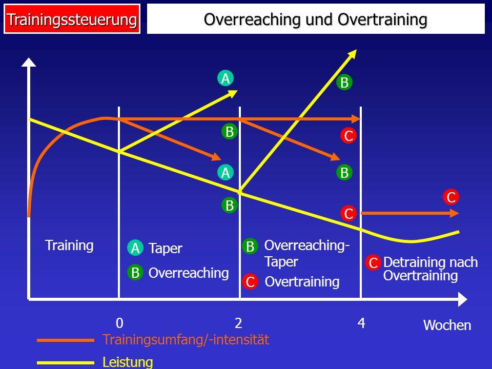 Overreaching und Overtraining