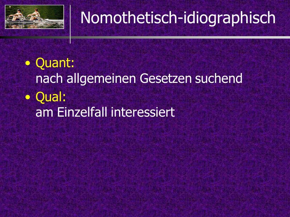 Nomothetisch-idiographisch