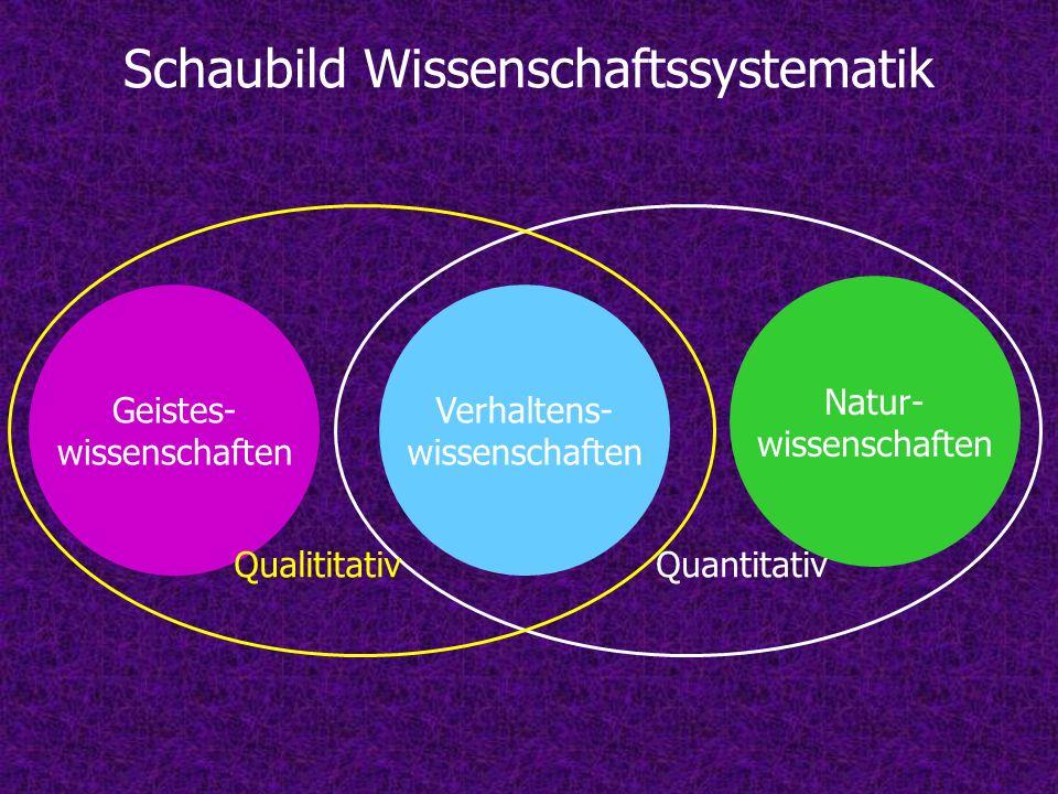 Schaubild Wissenschaftssystematik