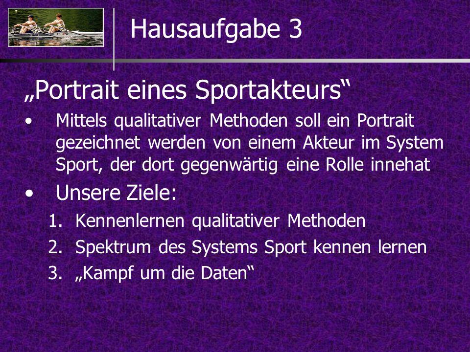 """Portrait eines Sportakteurs"